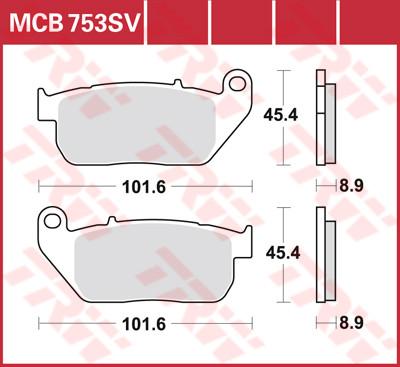 Bremsbelag TRW vorne XL 2004-2013 MCB753SV