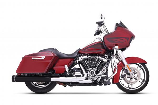 """Rinehart Auspuff Slip-on 4,5"""" Harley Milwaukee-Eight® FLH / FLT 117"""" 2018- mit EG-ABE schwarz/schwar"""
