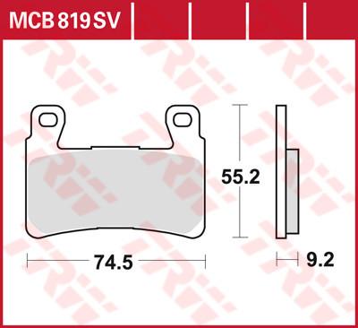 Bremsbelag TRW vorne Harley-Davidson XR , Softail, MCB819SV