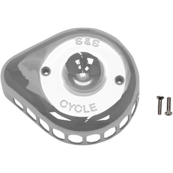 S&S Cover Mini Teardrop Schwarz Glänzend für Luftfilter Anbaukit