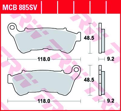 Bremsbelag TRW vorne XL Sportster MCB885SV