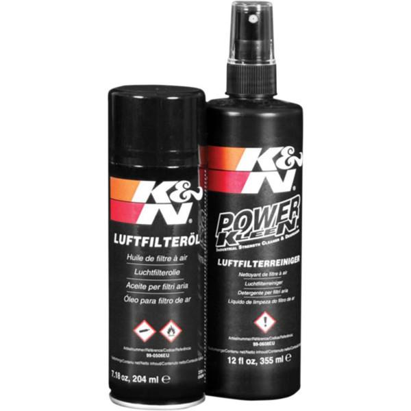 K&N Luftfilterreiniger und Luftfilter Öl Set