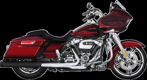 """Rinehart Auspuff Slip-on 4"""" Harley Milwaukee-Eight® FLH / FLT 117"""" 2018- mit EG-ABE schwarz/schwarz"""